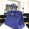 HERMÈS – 35cm Birkin Bag – Blue Electric Palladium – NEW