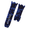 Navy Blue Camouflage Rubber Audemars Piguet 44mm Strap