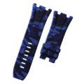 Navy Blue Camouflage Rubber Audemars Piguet 44mm Strap