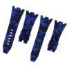 Navy Blue Camouflage Rubber Audemars Piguet 42mm Strap