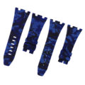 Navy Blue Camouflage Rubber Audemars Piguet 42mm Strap