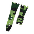 Green Camouflage Rubber Audemars Piguet 44mm Strap
