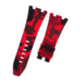 Red Camouflage Rubber Audemars Piguet 42mm Diver Strap