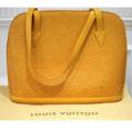 Item# 21 Authentic Louis Vuitton Yellow Epi Lussac Tote Bag