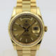 ROLEX DAY-DATE 18K YELLOW GOLD CHAMPAGNE DIAL REF118238 BOX & PAPERS