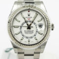 ROLEX SKY-DWELLER 326934 WHITE DIAL STAINLESS STEEL BRACELET WITH CARD