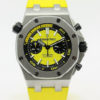 AUDEMARS PIGUET ROYAL OAK OFFSHORE DIVER CHRONOGRAPH 26703ST YELLOW DIAL; MINT