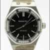 AUDEMARS PIGUET REF 15451ST.ZZ.1256ST.01 STEEL ROYAL OAK BLACK DIAL LADIES WATCH