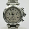 CARTIER PASHA 38MM STAINLESS STEEL BRACELET SILVER DIAL RETAIL $9250