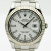 ROLEX DATEJUST II WHITE DIAL STAINLESS STEEL REF 116334 V SERIAL WITH BP