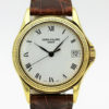 PATEK PHILIPPE REF 5117 J CALATRAVA 18K YELLOW GOLD MEN'S WATCH WITH ARCHIVE