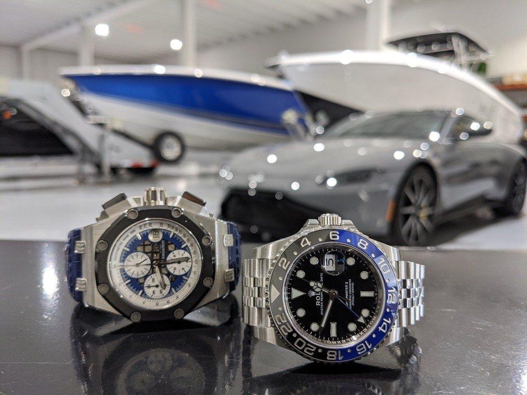 Rolex watch and Audemars Piguet Watch