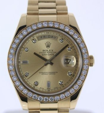 Rolex Day Date 41 Diamond Gold watch