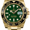 ROLEX GMT-MASTER II YELLOW GOLD GREEN REF 116718 LN