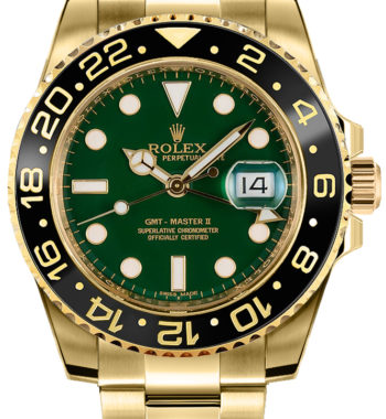 rolex gmt master gold green dial